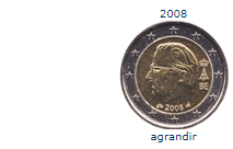 Pièce nationale belge 2 € 2008