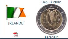 Pièce nationale Irlande 2 €