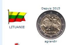Pièce nationale Lituanie 2 €