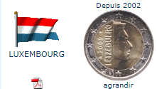 Pièce nationale Luxembourg 2 €