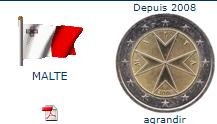 Pièce nationale Malte 2 €