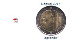 Pièce nationale Pays-Bas 2 € 2014