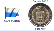 Pièce nationale San-Marin 2 €