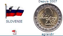 Pièce nationale Slovénie 2 €