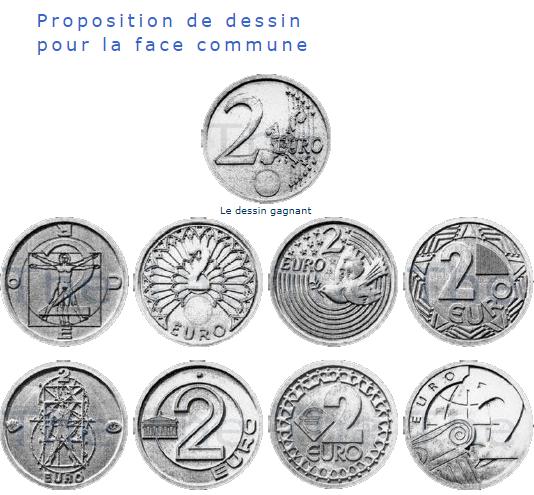 proposition de dessin de face commune d'une piece 2euros