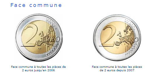face commune d'une piece de 2€