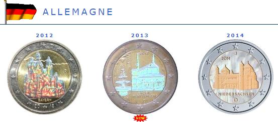 Hologramme de la pièce de 2 euros Allemagne