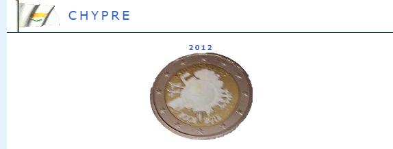 Hologramme de la pièce de 2 euros Chypre