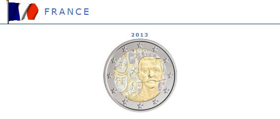 Hologramme de la pièce de 2 euros France