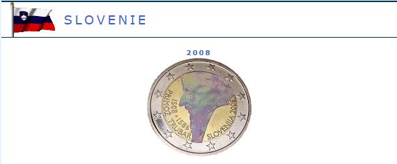 Hologramme de la pièce de 2 euros Slovénie