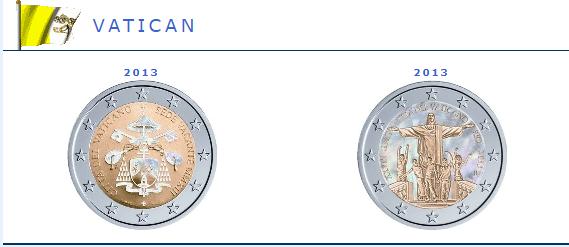 Hologramme de la pièce de 2 euros Vatican