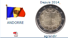 Pièce nationale Andorre 2 €