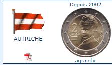 Pièce nationale autrichienne 2 €