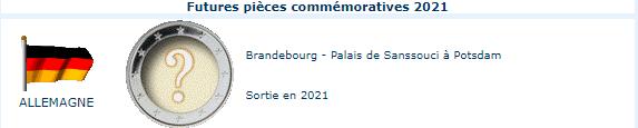 Pièces commémoratives 2021