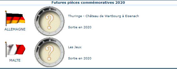 Pièces commémoratives 2020