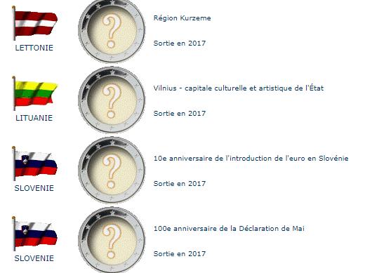 Pièces commémoratives 2017