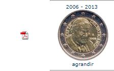 Pièce nationale Vatican 2 € 2006 2013
