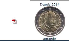 Pièce nationale Vatican 2 € 2014